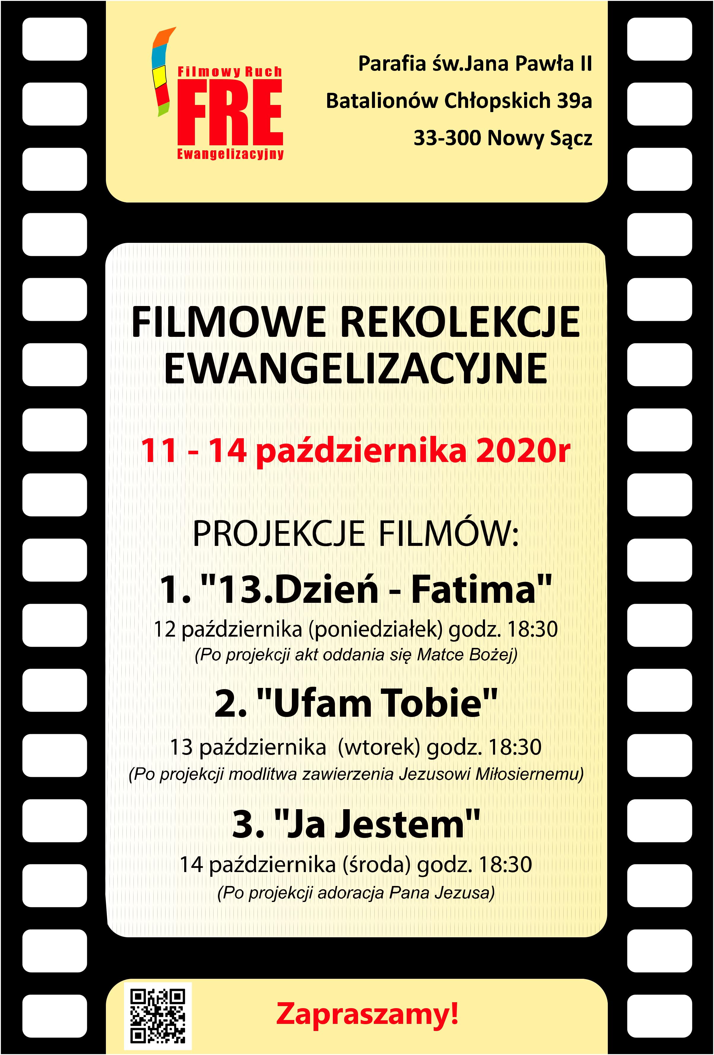 Rekolekcje filmowe! Zapraszamy!